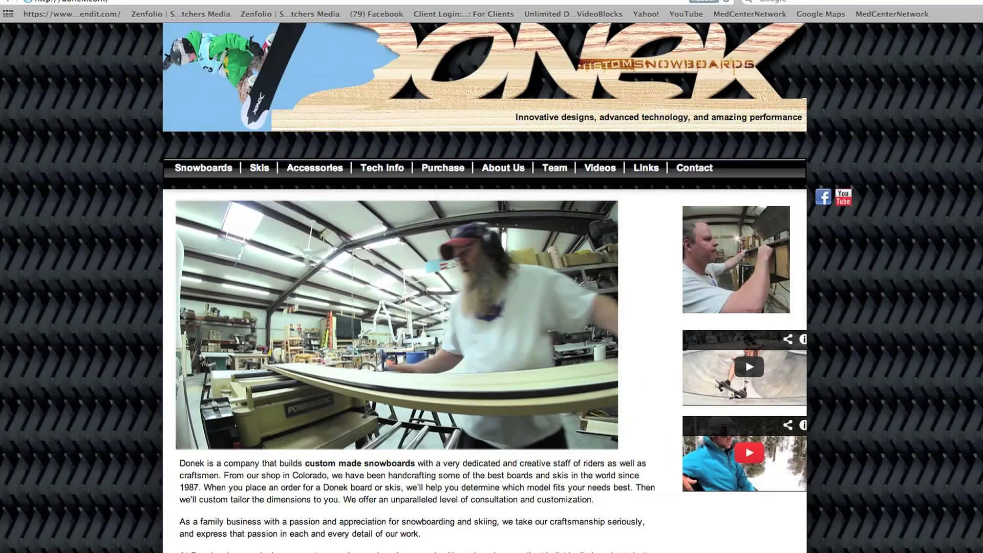 Donek Snowboards Testimonial